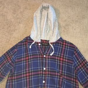 Men's Medium PacSun Cotton Flannel with hood